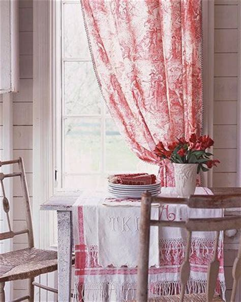 Toile Kitchen Curtains Diy Kitchen Window Treatments Window Country And Tables