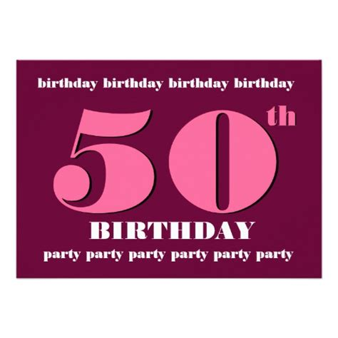 50th birthday card template 50th birthday invitation template pink wine 5 quot x 7
