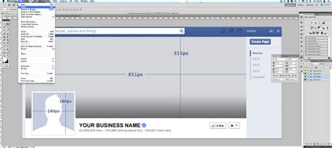 tutorial facebook timeline cover business template