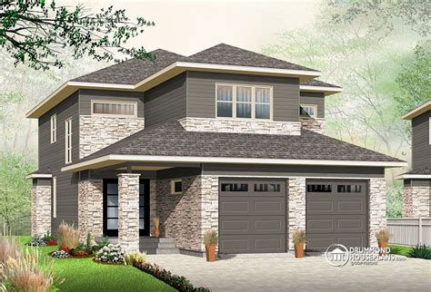 One Story House Plans With Two Master Suites by Narrow Lot House Plan With Nursery Drummond Plans