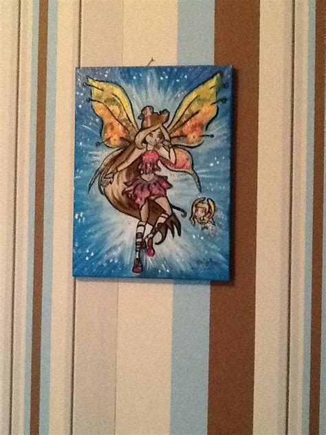 winx club painting winx club flora believix painting by dawndp