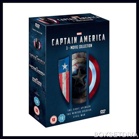 Captain America Boyset captain america marvel 3 collection brand new dvd boxset