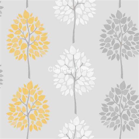 light grey wallpaper trees riva tree grey yellow wallpaper chiltern mills
