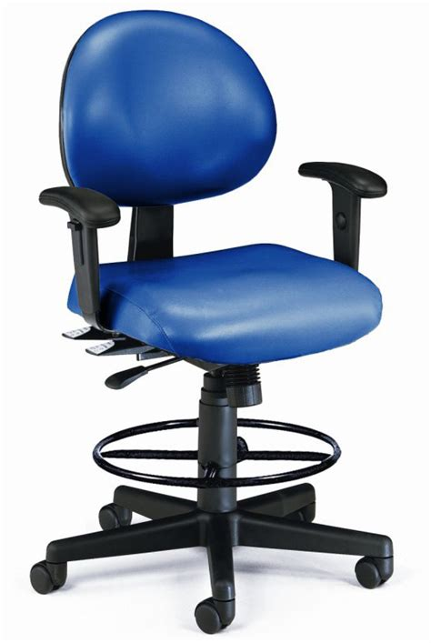 Anti Bacterial Wine Vinyl Office Task Chair W Arms by 24 Hour Antimicrobial Vinyl Stool 23 Quot 27 Quot Or 27 Quot 31