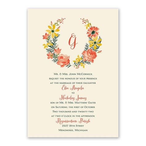 watercolor floral invitation with free response postcard s bridal bargains