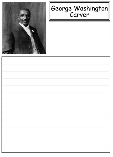George Washington Carver Essay by George Washington Carver Notebooking Paper School Washington Paper And George