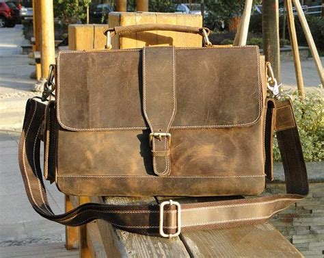 Leather Messenger Bag Handmade - the handmade vintage leather messenger bag gadgetsin
