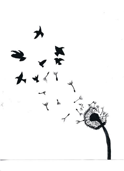 tattoo of flower turning into birds dandelion turning into birds by bismarckalphawolf on