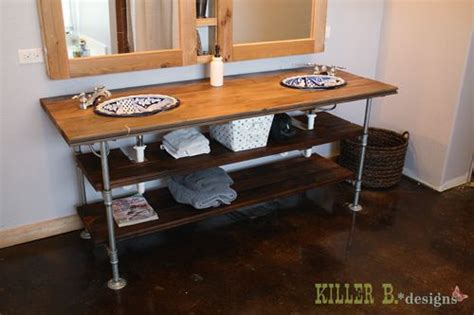 reclaimed industrial vanity industrial style and vanities