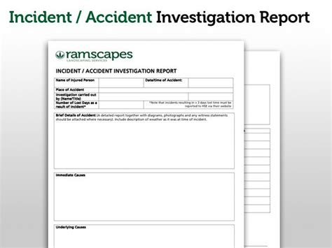 safety investigation report template ramscapes health and safety policy commercial