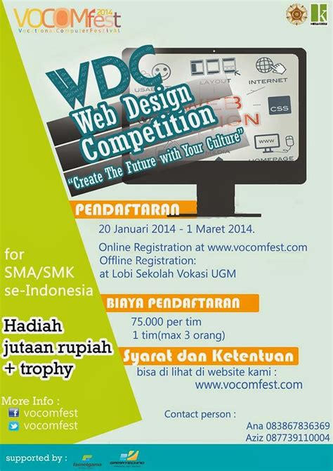 Kaos Baju Create Future web design competition vocomfest ugm 2014