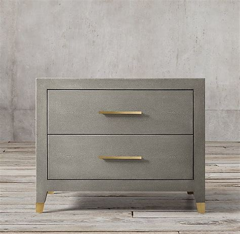Restoration Hardware Nightstands by Graydon Shagreen 30 Quot Closed Nightstand In 2019 Bedroom