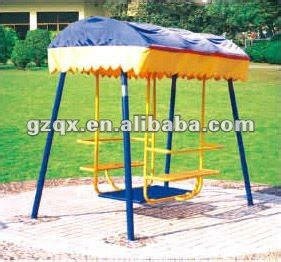 Durable Garden Swing With Sun Shade Swing Sets 4 Seater