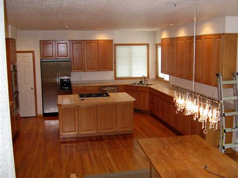 dark wood floors light oak cabinets dark hardwood floors