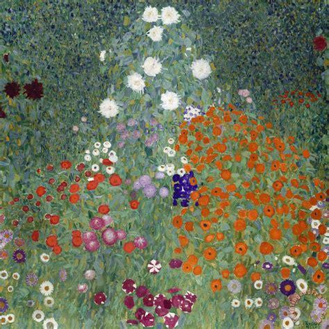 Flower Garden Paintings Gustav Klimt Flower Garden Painting Flower Garden Print For Sale