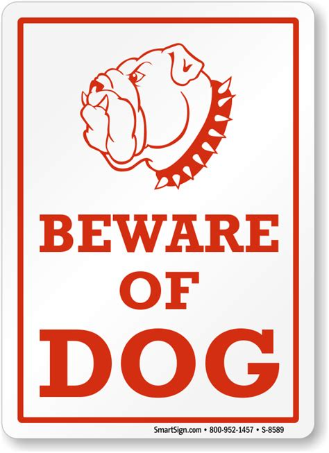 beware of signs beware of sign guard sign with graphic sku s 8589