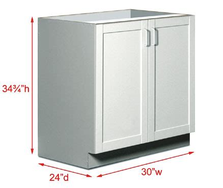 base kitchen cabinet sizes