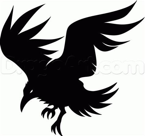 crow tribal tattoo clipart tribal pencil and in color clipart tribal
