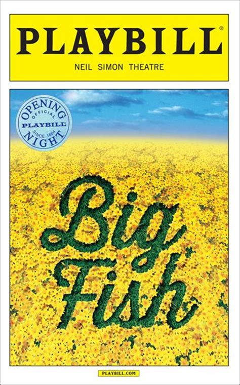 big fish limited edition official opening playbill
