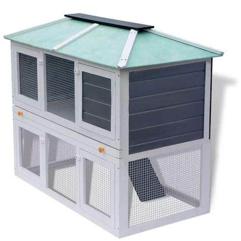 gabbia legno vidaxl gabbia in legno a due piani per conigli vidaxl it