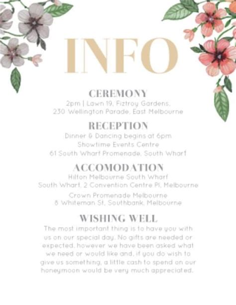 Wedding Information by Floral Circle Invitation Set Dp Wedding Invitations
