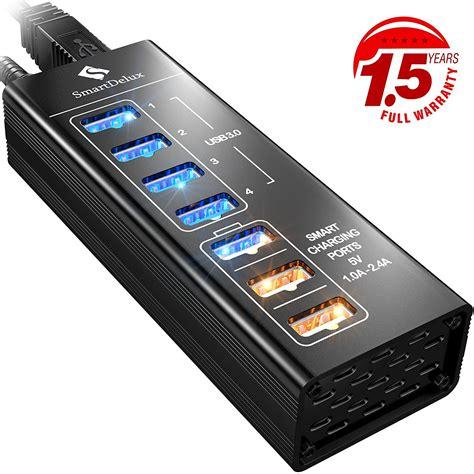 Usb Hub 3 0 7 Port smartdelux powered usb hub 7 port usb 3 0 best offer