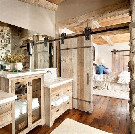 Rustic Barn Doors 15 Sliding Barn Doors That Bring Rustic To The Bathroom