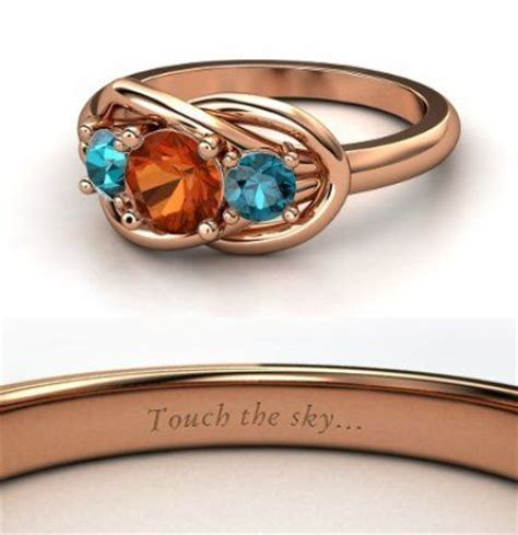 disney inspired engagement rings the picture shows the