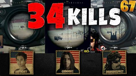ricochet kills 5 ricochet kills 4 pubg rank 1 grimmmz anthony drdisrespect 34 kills squad