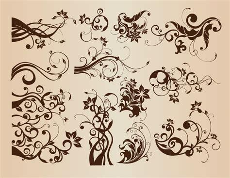 Set Of Design Elements Vector | vector set of vintage floral elements for design free