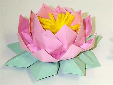 Lotus With Paper - paper lotus flowers inland northwest falun dafa