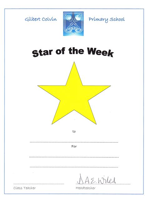 Printable Star Of The Week | star of the week printables pictures to pin on pinterest