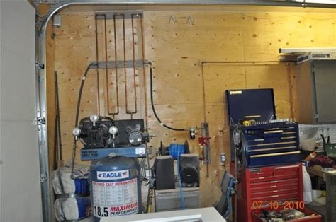 How To Plumb An Air Compressor System by Shop Compressor Setup The Hull Boating And