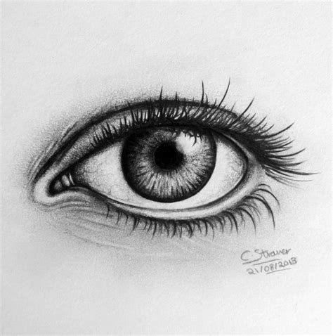 A Drawing Of An Eye by Realistic Eye Drawing By Lethalchris On Deviantart