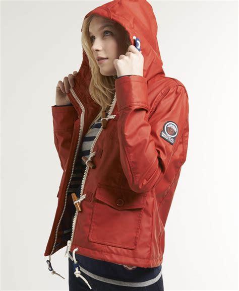 superdry boat jacket new womens superdry boat duffle coat rebel red ebay