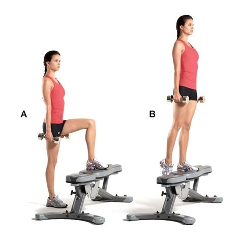 weighted bench step ups 77 best images about glutes exercices on pinterest glute