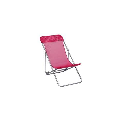 chaise pliante lafuma chaise longue pliante transatube lafuma framboise