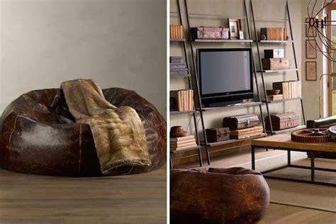distressed leather bean bag chair mens gear