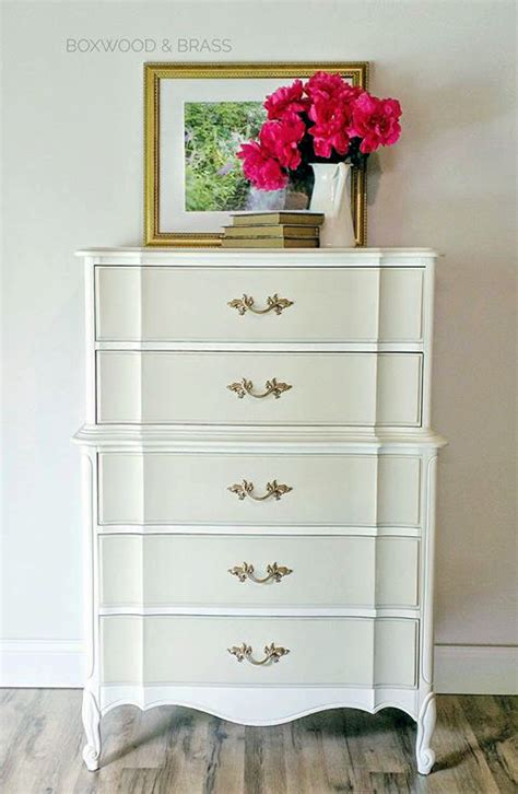 two tone dresser in antique white linen milk paint general finishes design center