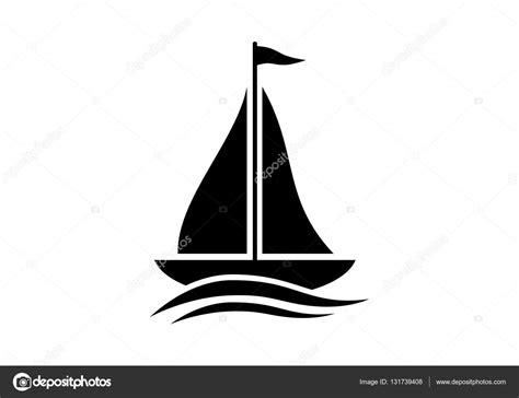 boat icon white sailboat vector icon on white background stock vector