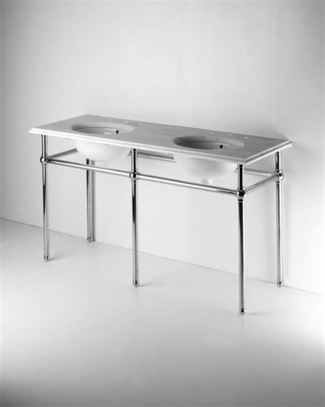 metal five leg washstand with marble top