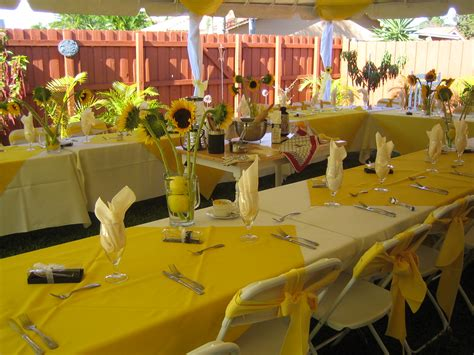 Decorating Ideas Sunflower Yellow Kitchen Sunflower Themed Table Summer Decor We