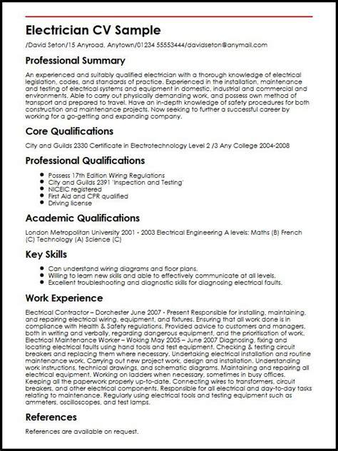 electrician resume format electrician resume format photos exle resume