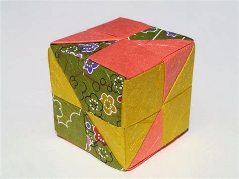 Make An Origami Cube - free coloring pages how to make an origami cube in 18