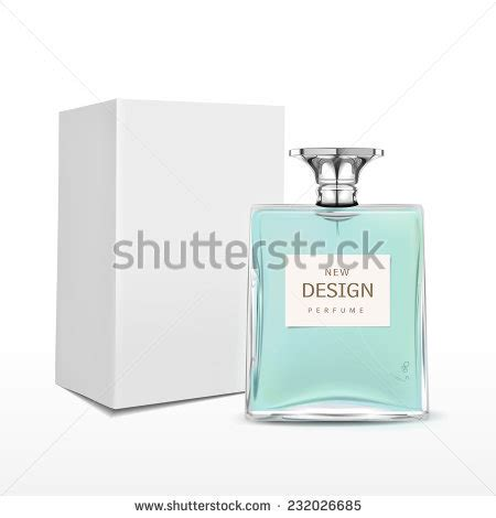 Elegant Perfume Bottle With Label And Package Box Isolated Perfume Label Template