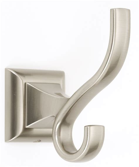 satin nickel bathroom accessories alno creations shop a7499 sn hook satin nickel alno