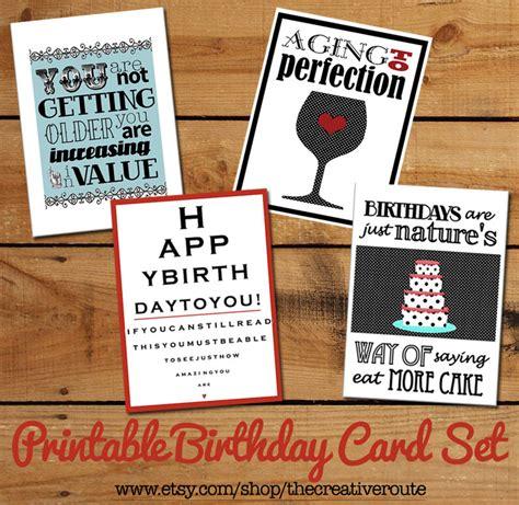 printable birthday cards diy printable birthday cards set of funny birthday quotes diy