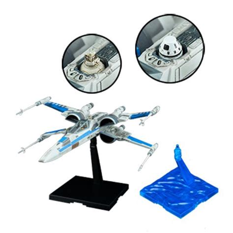 Wars Blue Squadron Resistance X Wing Fighter Bandai wars the last jedi blue squadron resistance x wing