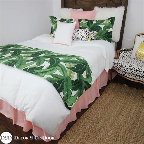 custom bedding sets palm leaf pink custom designer bedding collection ma