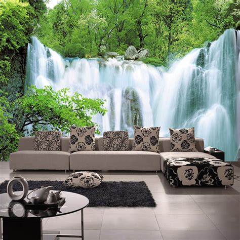 home decor waterfalls aliexpress com buy high quality washable wallpaper
